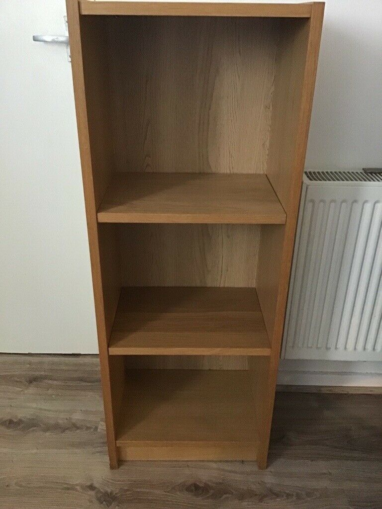 Bookcase Book Shelves Oak Coloured Small And Narrow Books Storage Compact In Bow London Gumtree