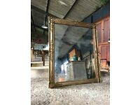 19th Century Antique Large French Foxed Mirror