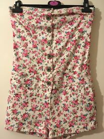 Floral new look playsuit