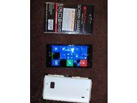 Nokia lumia 930 with case and unused screen guard