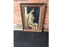 Vintage nude Woman (lady) stamped C Robertson and Co and handwritten J Todd