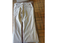 Ladies Front Row Lightweight Summer casual trousers, Size 10 , 12 and 16. roll up legs shorts Sand