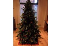 Christmas Xmas Finesse Frosted Sherwood Mixed Pine Deluxe Tree 1.95m - Life Like
