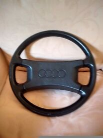 AUDI Quattro UR, S1, Original leather steering wheel