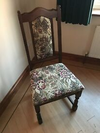 Old charm dining table and eight chairs