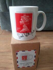 BRAND NEW Red Stamp Mug - Perfect Gift