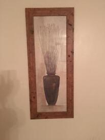 Rustic Frame Picture with vase