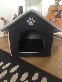 Soft Dog Puppy Bed Pen House Black Grey