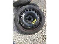 Vauxhall spacesaver wheel and tyre