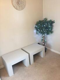 Matching Solid Wood Side Tables