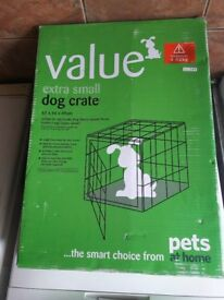 BRAND NEW Extra small dog crate (Pets at Home)