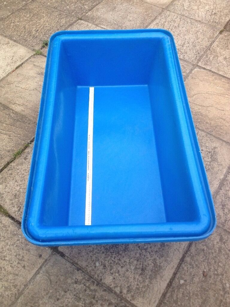 Large 1 metre plastic koi measuring inspection bowl in for Plastic pond