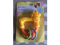 Kid toys - Hey Baby! Animal rattle 6m+ (BRAND NEW, still in original packaging) (FFSP)