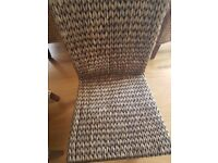 8 raftan style dining rooms chairs.