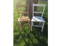Antique chairs and vintage pictures