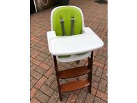 Oxo high chair wooden