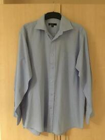 Men's Blue a shirt Cedarwood State Smart Formal 15 inch collar Long Sleeve