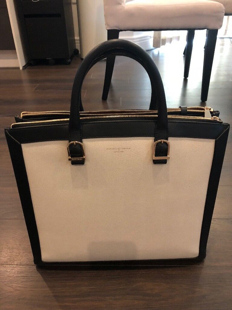 3119035d99 Aspinal Editors tote in monochrome mix unused excellent condition. London  £300.00