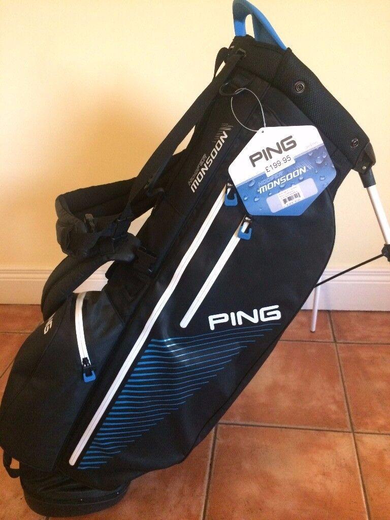 f035777c132b Waterproof PING Hoofer Monsoon Carry   Stand Golf Bag