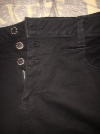 New look high waist skinny size 16
