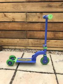 My first scooter (with extra wheels)
