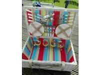 Wicker picnic basket brand new.