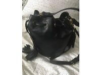 BNWT Forever 21 Black Bucket Bag with tassels / cross body RRP £25