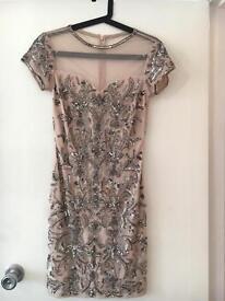 Size 10 Miss Selfridge Pink/Silver Sequin Dress