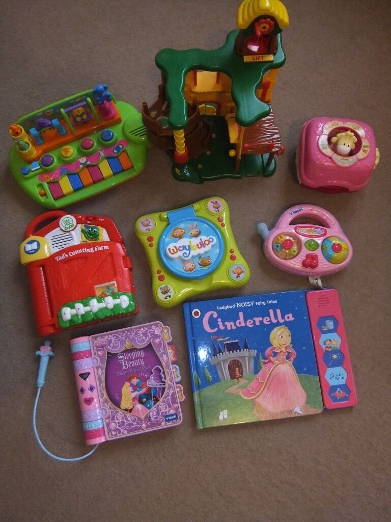 Toysbooks, vtech etcin City of London, LondonGumtree - Bundle of toys for £20, no longer needed. My daughter had great fun having them. Cash on collection