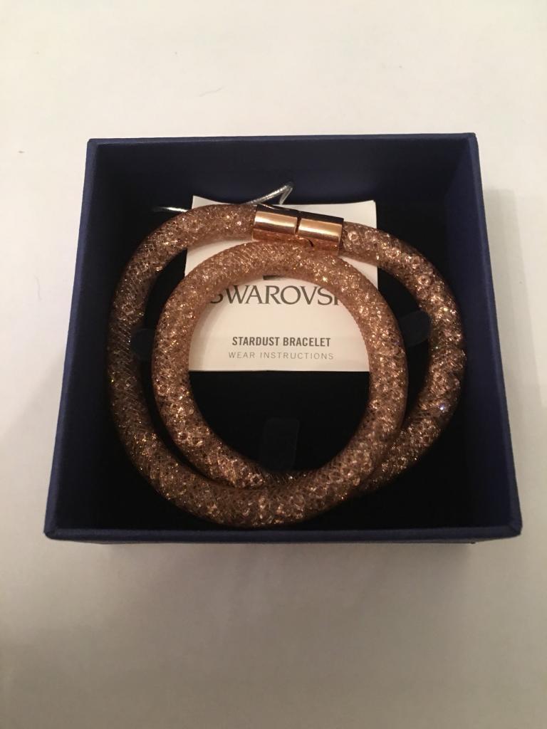 Swarovski rose gold crystal bracelet
