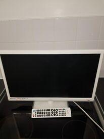 Technika 22 inch tv in white