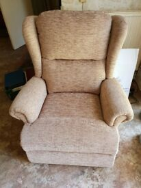 Single Motor lift and rise reclining armchair
