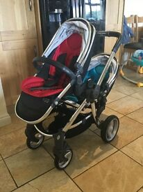 Egg stroller, with tandem adaptors, tandem seats, tandem carrycots and more