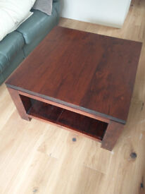 Square Coffee Table solid hardwood