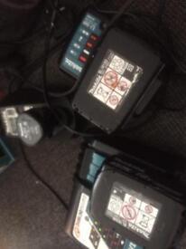 Makita 18v batteries charger and sds combination hammer drill