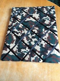 Padded Pinboard Camouflage fabric