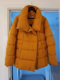 Next Mustard puffa coat size 18