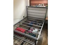 Double bed metal frame.-Must go