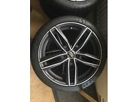 Alloy wheels with brand new tyres for Mercedes Benz for only £1000