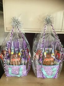 UNICORN COOLER/LUNCH BAG FILLED WITH CHOCOLATE BARS AND A ROLO EASTER EGG.