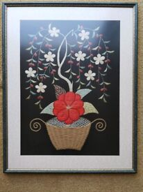 Raw Silk Embroidered Pictures