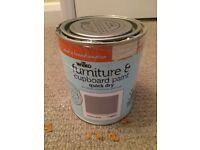 Wilko grey furniture/cupboard paint