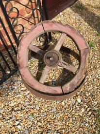 Antique cart wheel