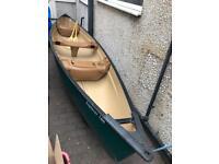 Pelican explorer 166 3 seater canadian canoe 16ft with riber quick rack roof racks