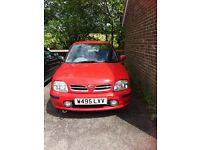 Nissan Micra 5-door, 1.3v engine. Low mileage