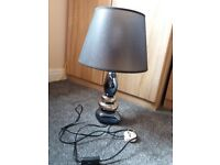 Blue and silver table lamp