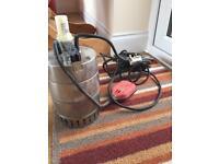 Grundfos KP200-1 sump pump with 3-4m of hose