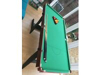 6ft folding snooker/pool table