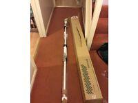 Curtain pole. John Lewis, white wood.