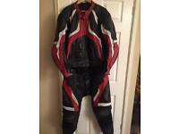 RST 2 Piece Leathers Red & Black